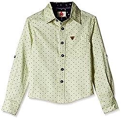 UFO Boys' Shirt (AW16-WF-BKT-511_Cream_4 - 5 years)