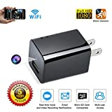 Spy camera USB Phone charger by WEMLB - 1080p HD hidden camera, WIFI Wireless wall plug USB Charger [Motion Detection, AC Adapter, Remote App Control] Nanny cam |Home, Kids, Baby, Pet monitoring cam