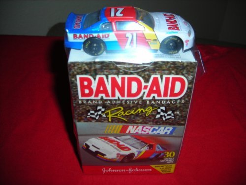 NASCAR BAND-AID #21 COLLECTABLE DIE CAST CAR-DRIVER UNKNOWN