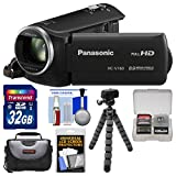 Panasonic HC-V160 HD Video Camera Camcorder with 32GB Card + Case + Flex Tripod + Kit