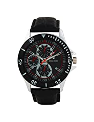 Swiss Trend Black Dial Mes Watch With Leather Strap(Artshai-1632-S...