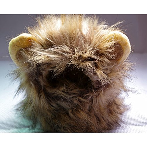 Lifelike Lion Mane Pet Cat Hat Wig Costume Cosplay Stuffed Plush with Ears