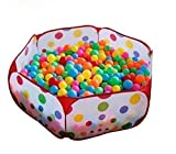 Inspired gift??Portable Cute Hexagon Polka Dot Kids Playpen Ball Pit Indoor and Outdoor Easy Folding Play House Children Toy Play Tent with Tote Bag for Kids Gifts by Inspired gift