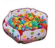 QIYO(TM) Portable Cute Hexagon Polka Dot Kids Playpen Ball Pit Indoor and Outdoor Easy Folding Play…