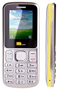 TTsims - Dual Sim TT130 Mobile Phone - 1.3MP Camera - Bluetooth - Torch Function - Radio - MP3 MP4 - Memory Card Slot - Cheapest Twin 2 Sim Phone (USB charger, Yellow)