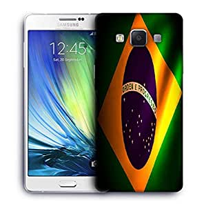 Snoogg Brazil Flag Printed Protective Phone Back Case Cover For Samsung Galaxy A7