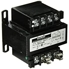 Siemens MT0075B Industrial Power Transformer, Domestic, 240 X 480 Primary Volts 50/60Hz, 24 Secondary Volts, 75VA Rating