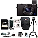 Sony DSC-RX100M II Cyber-shot Digital Camera with 64GB Accessory Bundle