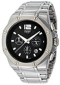 ESPRIT Herren-Armbanduhr CLEAR OCTO SILVER Chronograph Quarz ES102881006