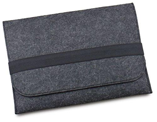 [NEXARY] MacBook Retina 12インチ (Early 2015 新しいMacBookに対応) フェルト スリム 収納 パソコン インナーケース (12' チャコールグレー)