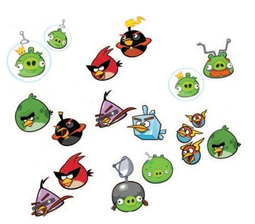 Angry Birds Space Temporary Tattoos (1 Sheet)