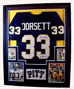 Tony Dorsett Framed Jersey Signed JSA COA Autographed Pittsburgh Pitt Panthers by Mister Mancave