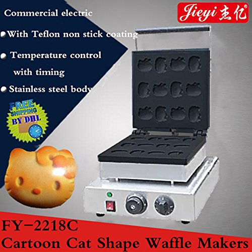 Hanchen Instrument Non-Stick Muffin Baker Cake Cafe Shop Waffle Machine Commercial Hellokitty Waffle Maker (FY-2218C(110V)) (Waffle Maker Hello Kitty compare prices)