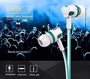 3.5mm Jack SUPER Bass Stereo In-Ear Earphones Headphones Headset Handsfree & Mic (Blue)
