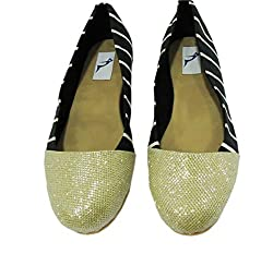 Bowtoes Gold Stripped Ballerina - GB-018-36