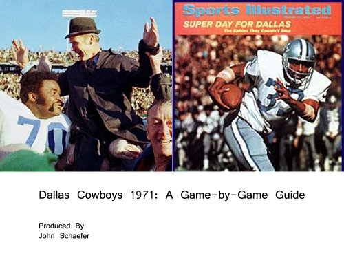 dallas-cowboys-1971-a-game-by-game-guide-english-edition