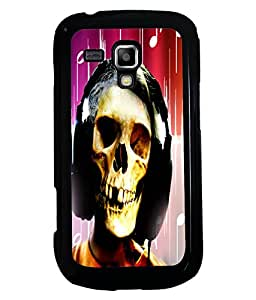 Printvisa 2D Printed Skull Face Designer back case cover for Samsung Galaxy S Duos S7562 - D4620