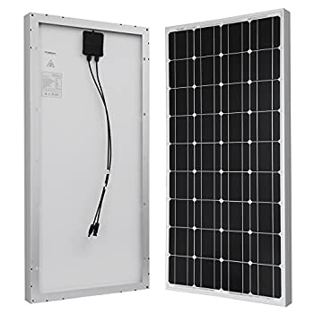 HQST 100 Watt 12 Volt Monocrystalline Solar Panel with MC4 Connectors 12 Volt Battery Charging RV, Boat, Off Grid