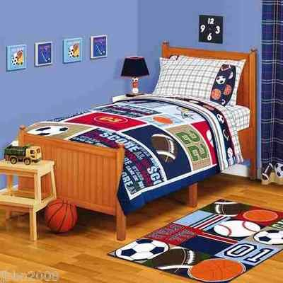 My Kn. American Kids Sports Bedding Sheet Set Twin Or Full Size