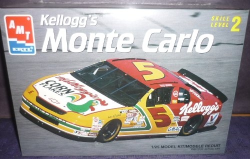 #8187 AMT/Ertl Terry Labonte #5 Kellogg's Monte Carlo 1/25 Scale Plastic Model Kit,Needs Assembly