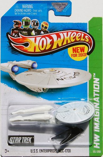 2013 Hot Wheels Hw Imagination - Star Trek - USS Enterprise NCC-1701