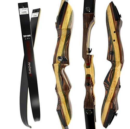 TigerShark Premium Takedown Recurve Bow by Southwest Archery USA |LIMITED TIME SALE| available with Stringer Tool | weights 29-60 lb | LEFT and RIGHT HANDED | ASSEMBLY INSTRUCTIONS INCLUDED RH (Make Your Own Recurve Bow Kit)
