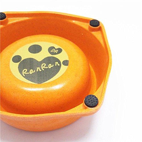 Dr.RanRan 11 cm Rotonda Bebedero Máscota Lazones Mangiatoia Per Cane Gatto Piatto Ciotola Ciotolina Rosa, Verde, arancione