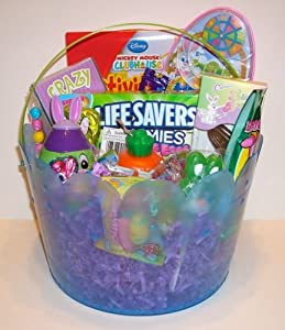 Kids Easter Basket Deluxe Filled with Toys and Easter Candy