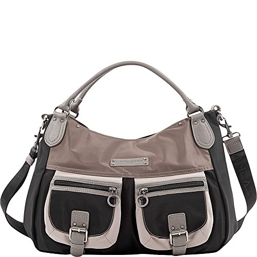 lancaster-paris-nylon-leather-traveler-black-multi