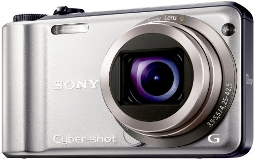 Sony DSCH55B Cyber-shot Digital Camera - Silver (14.1MP, 10x Optical Zoom) 3 inch LCD