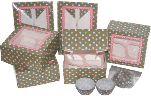 The Gift Wrap Company Candy Dot Cupcake Bake and Give Set