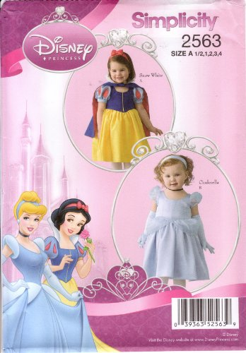 Simplicity Sewing Pattern 2563 Toddler'S Disney Princess Cinderella / Snow White front-812657