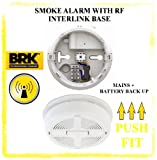 Z9U9- MAINS POWERED 670MBX IONISATION SMOKE ALARM ALKALINE BATTERY WITH RF INTERLINK BASE