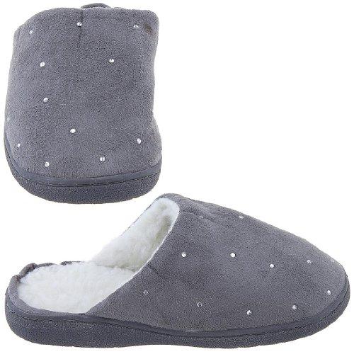 Cheap Harve Benard Gray Rhinestone Slippers for Women (B006CVRUAY)