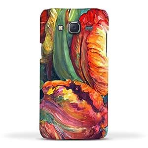 FUNKYLICIOUS Galaxy J5 Back Cover Tulips Design (Multicolour)