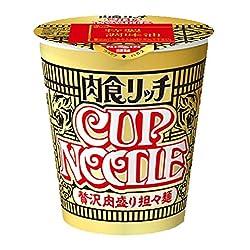 日清 カップヌードル 肉食リッチ 贅沢肉盛り担々麺
