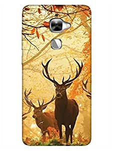 Reindeer - For Animal Lovers - Hard Back Case Cover for LeEco Le2 - Superior Matte Finish - HD Printed Cases and Covers