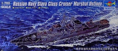 Russian Navy Slava Class Cruiser Marshal Ustinov 1/700 Trumpeter