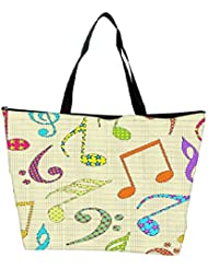 Snoogg Colorful Music Alphabets Designer Waterproof Bag Made Of High Strength Nylon