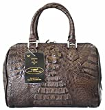 Authentic M Crocodile Skin Womens Genuine Hornback Crocodile Leather Clutch Bag Purse W/Strap Handbag