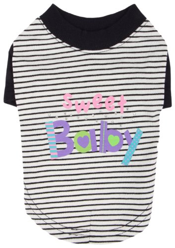 Pinkaholic New York Sweet Baby Shirt For Dogs, Navy, Small front-977727