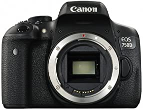 Canon EOS 750D Body - Cámara digital (24,2 MP, MILC Body, CMOS, TTL-CT-SIR, 100, 6400, 12800, Auto, Manual) Negro (importado)