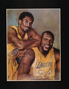 (13x19) Los Angeles Lakers Kobe Bryant Shaquille O'Neal Sports Poster Print