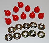 Pack of 10 Red Ball Noses 15mm Teddy Bear Clown Soft Toy Making Detailed Noses