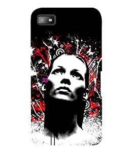 printtech Girl Look Pattern Back Case Cover for Blackberry Z10
