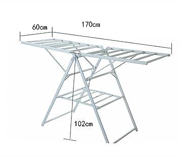 Racks interni / Doppio polo in alluminio / Racks pieghevoli di pavimento pieghevole Omini appendiabiti