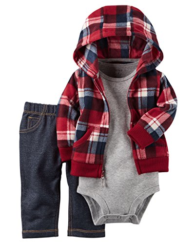 carters-baby-boys-3-piece-cardigan-set-red-plaid-12m