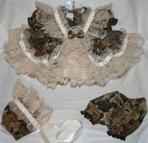 Individually Handmade Extra Frilly Camo Pageant Dress w/Bonnet & Bloomers ~ Bring Home From Hospital - Buy Individually Handmade Extra Frilly Camo Pageant Dress w/Bonnet & Bloomers ~ Bring Home From Hospital - Purchase Individually Handmade Extra Frilly Camo Pageant Dress w/Bonnet & Bloomers ~ Bring Home From Hospital (Webb Direct 2U, Webb Direct 2U Apparel, Webb Direct 2U Toddler Girls Apparel, Apparel, Departments, Kids & Baby, Infants & Toddlers, Girls, Skirts, Dresses & Jumpers, Dresses)