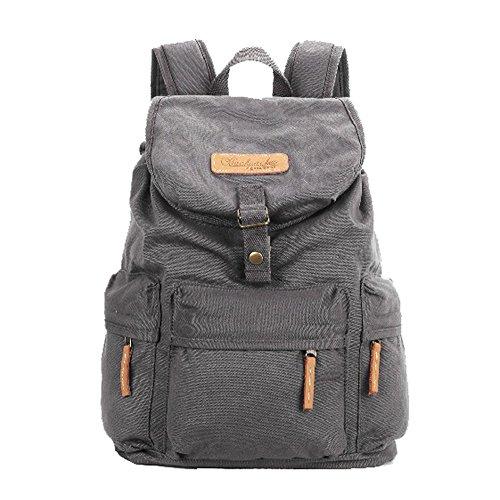 New Win8Fong Bbk-S2 Canvas Dslr Camera Bag School Bag Backpack Rucksack Bag Travel Bag (Grey)