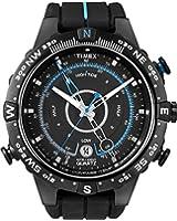 Timex - T49859D7 - Intelligent Quartz - Montre Homme - Quartz Analogique - Cadran Noir/Bleu - Bracelet Silicone Noir/Bleu